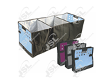 J229004-R Foldable Trunk Organizer with 3 Compartments